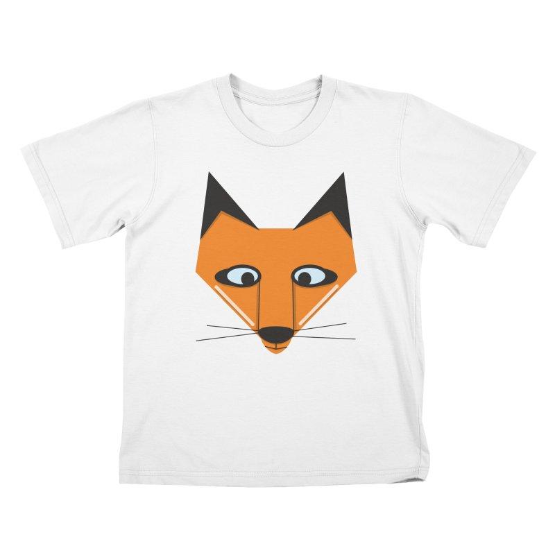 Fox Face Kids T-Shirt by Cowboy Goods Artist Shop
