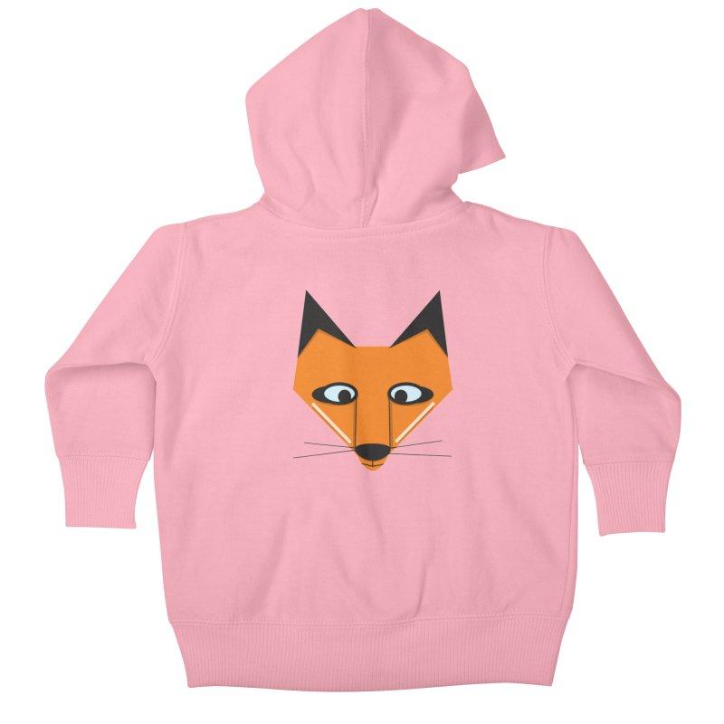 Fox Face Kids Baby Zip-Up Hoody by Cowboy Goods Artist Shop