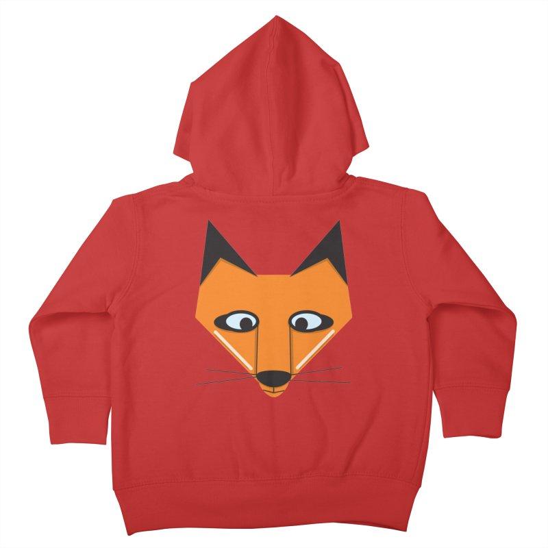 Fox Face Kids Toddler Zip-Up Hoody by Cowboy Goods Artist Shop
