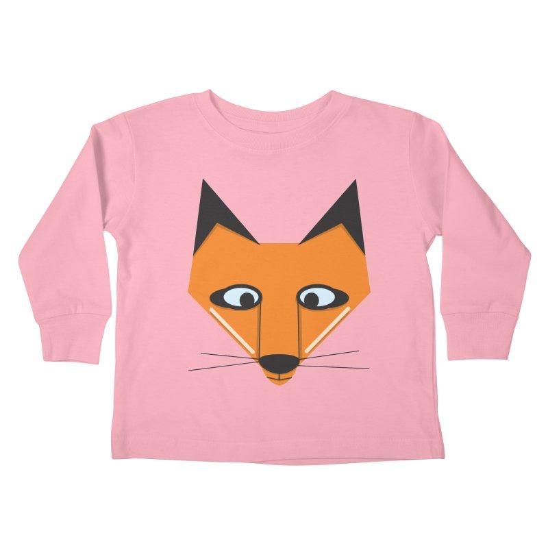Fox Face Kids Toddler Longsleeve T-Shirt by Cowboy Goods Artist Shop