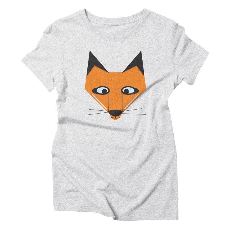 Fox Face Women's T-Shirt by Cowboy Goods Artist Shop