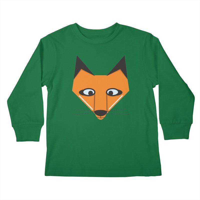 Fox Face Kids Longsleeve T-Shirt by Cowboy Goods Artist Shop