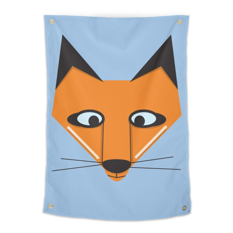 Fox Face Home Tapestry by Cowboy Goods Artist Shop