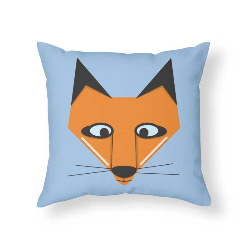 Fox Face Home Throw Pillow by Cowboy Goods Artist Shop