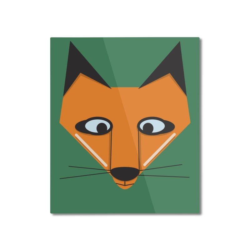 Fox Face Home Mounted Aluminum Print by Cowboy Goods Artist Shop