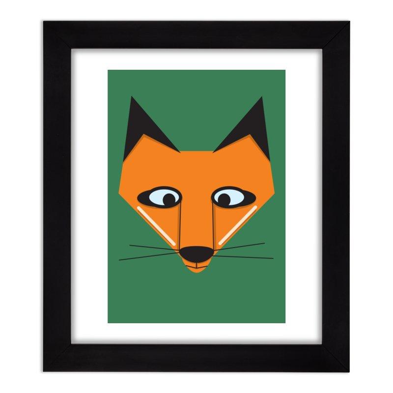 Fox Face Home Framed Fine Art Print by Cowboy Goods Artist Shop