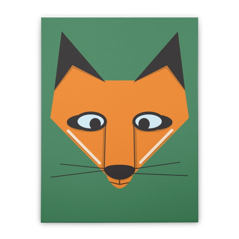 Fox Face Home Stretched Canvas by Cowboy Goods Artist Shop