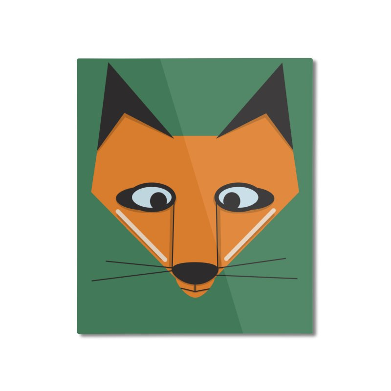 Fox Face Home Mounted Aluminum Print by Cowboy Goods Artist Shop