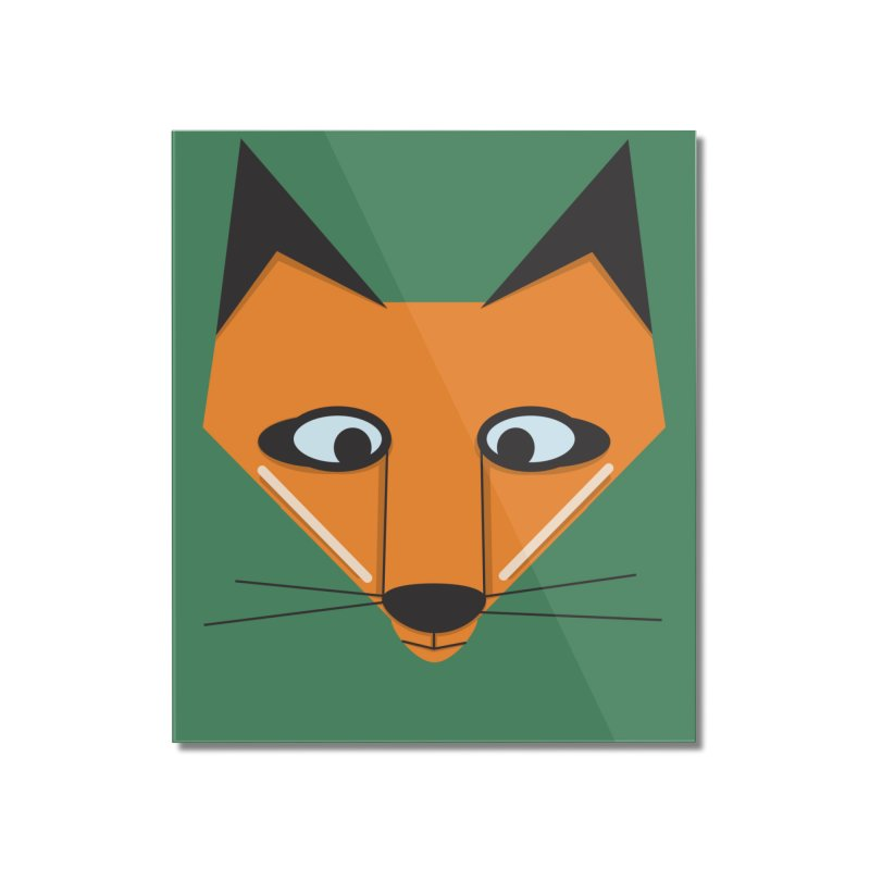 Fox Face Home Mounted Acrylic Print by Cowboy Goods Artist Shop