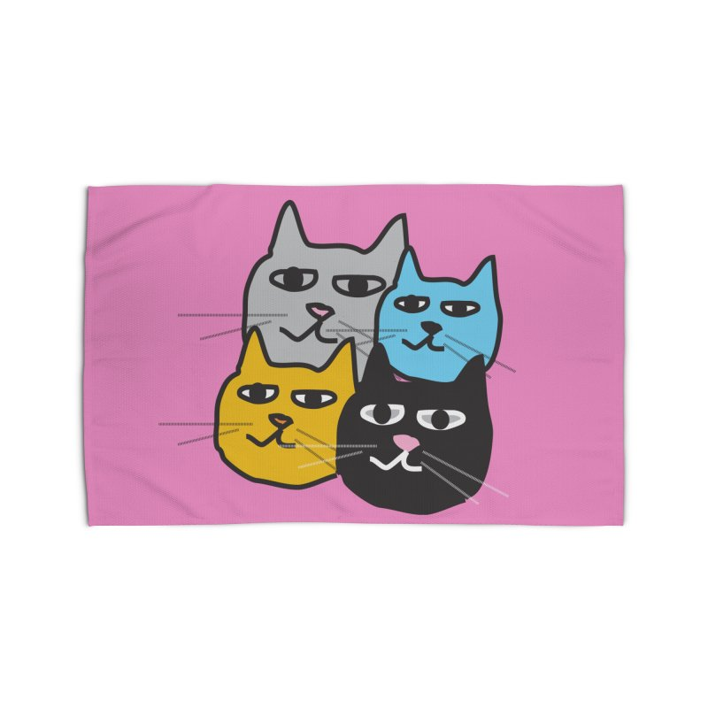Cat Colony 1 Home Rug by Cowboy Goods Artist Shop