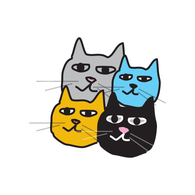 Cat Colony 1 Accessories Magnet by Cowboy Goods Artist Shop
