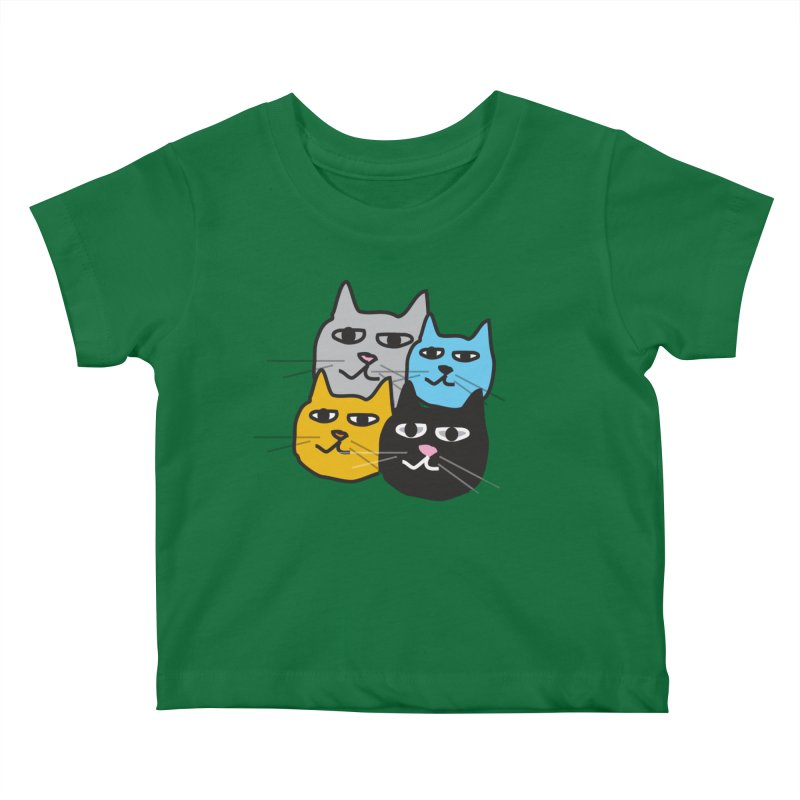 Cat Colony 1 Kids Baby T-Shirt by Cowboy Goods Artist Shop