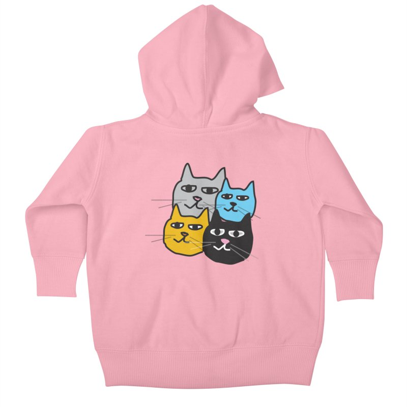 Cat Colony 1 Kids Baby Zip-Up Hoody by Cowboy Goods Artist Shop