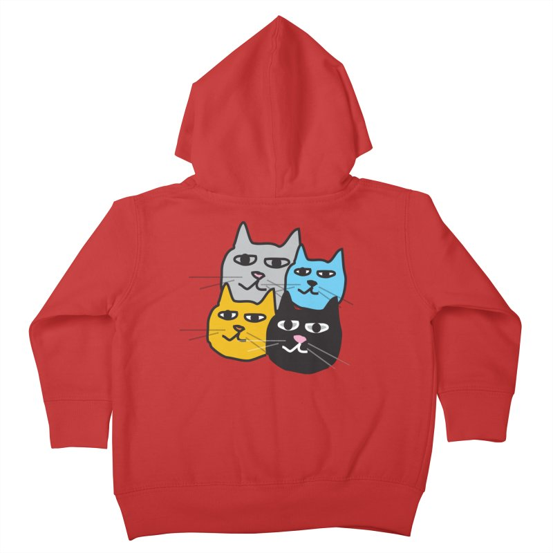 Cat Colony 1 Kids Toddler Zip-Up Hoody by Cowboy Goods Artist Shop