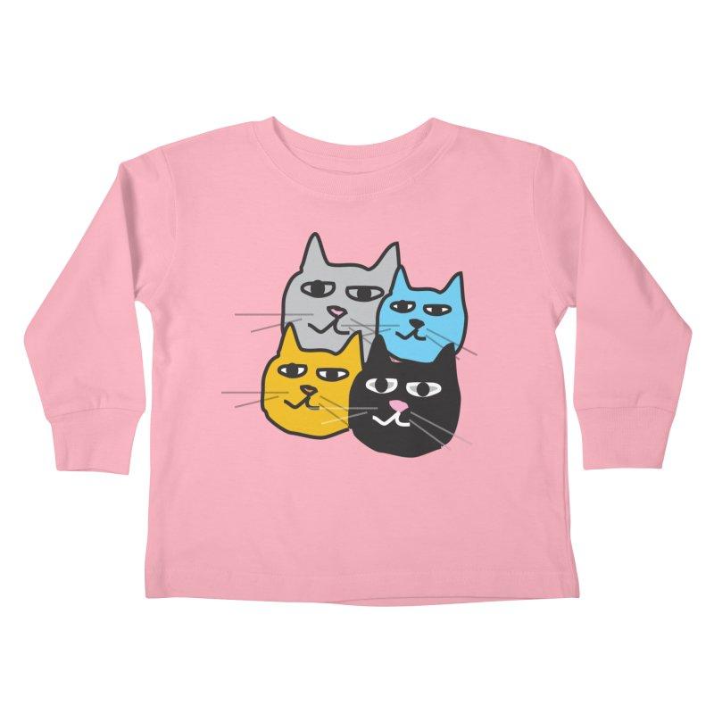 Cat Colony 1 Kids Toddler Longsleeve T-Shirt by Cowboy Goods Artist Shop