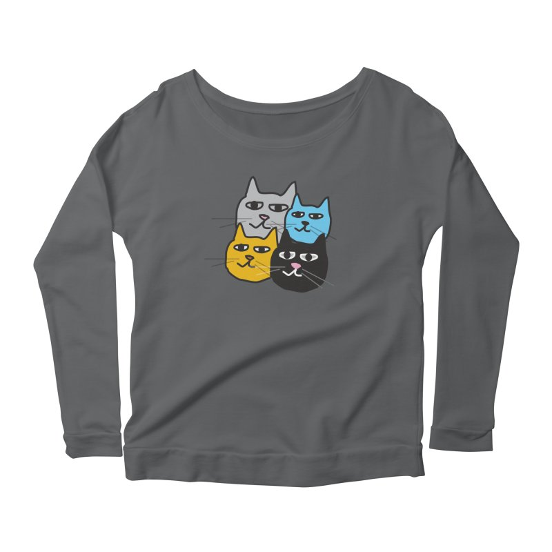 Cat Colony 1 Women's Longsleeve T-Shirt by Cowboy Goods Artist Shop