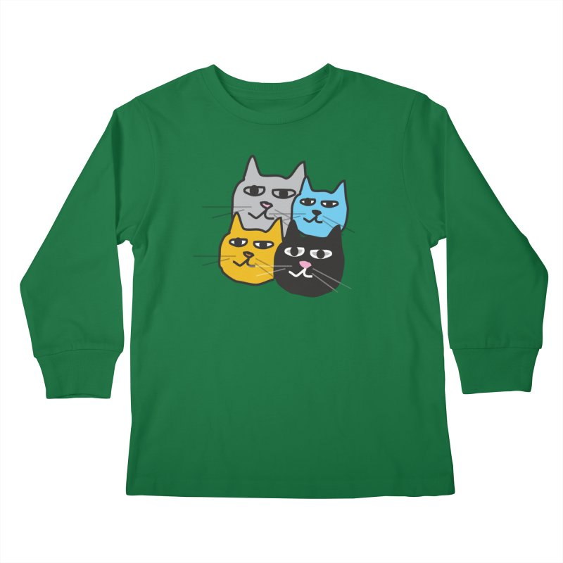 Cat Colony 1 Kids Longsleeve T-Shirt by Cowboy Goods Artist Shop