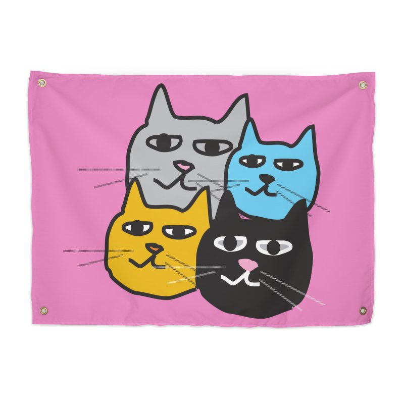 Cat Colony 1 Home Tapestry by Cowboy Goods Artist Shop
