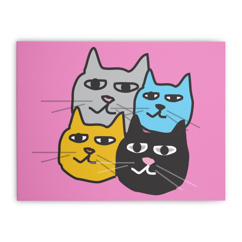 Cat Colony 1 Home Stretched Canvas by Cowboy Goods Artist Shop