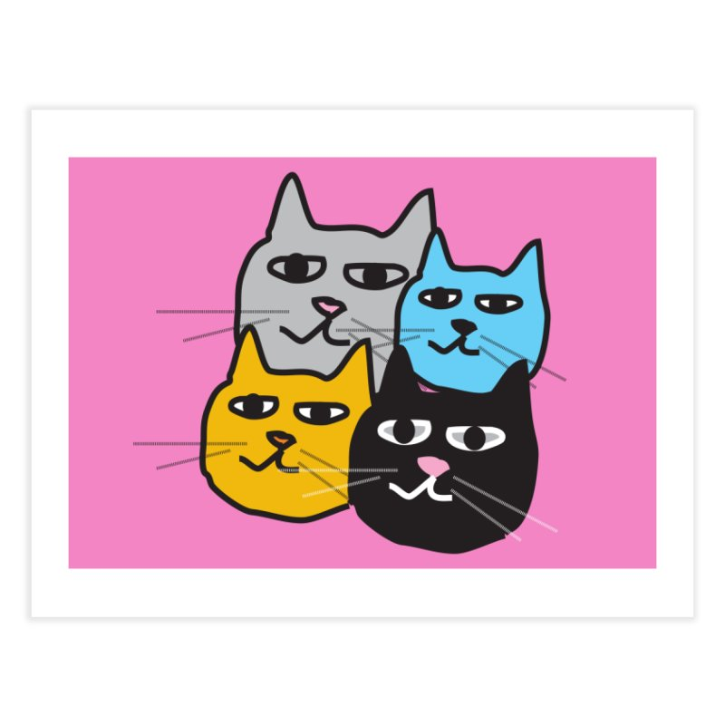 Cat Colony 1 Home Fine Art Print by Cowboy Goods Artist Shop