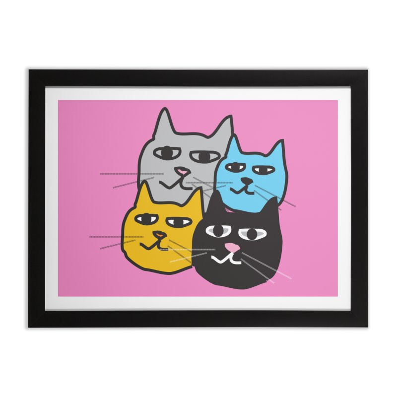 Cat Colony 1 Home Framed Fine Art Print by Cowboy Goods Artist Shop