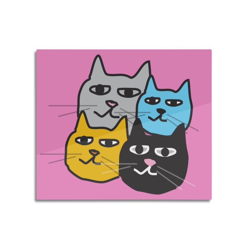 Cat Colony 1 Home Mounted Acrylic Print by Cowboy Goods Artist Shop