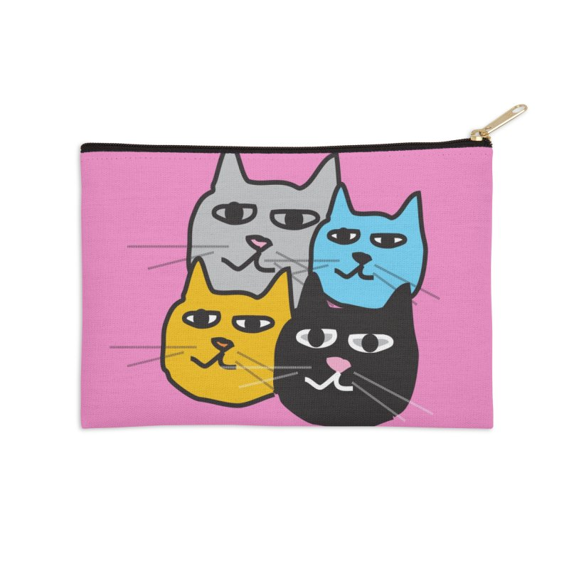 Cat Colony 1 Accessories Zip Pouch by Cowboy Goods Artist Shop