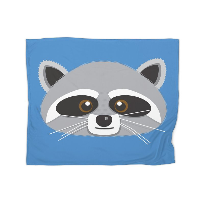 Racoon Face Home Blanket by Cowboy Goods Artist Shop