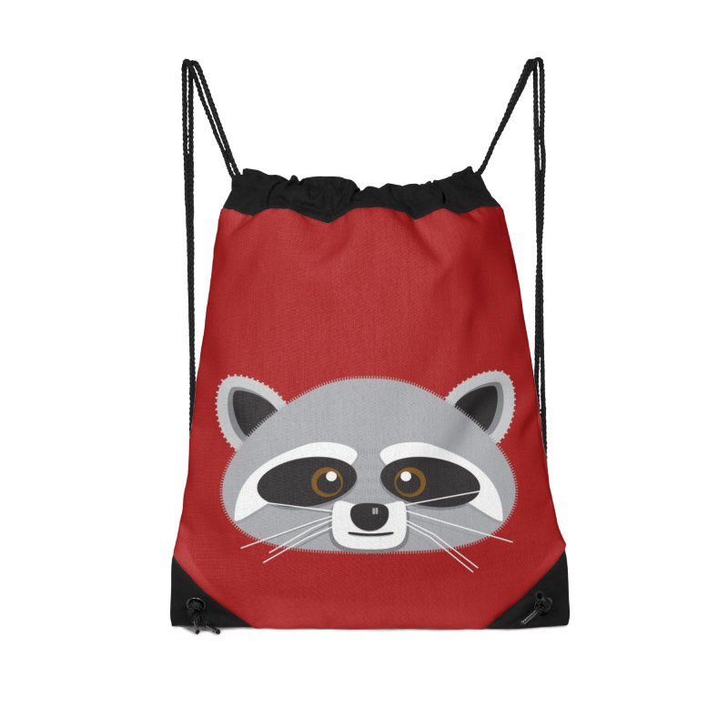Racoon Face Accessories Bag by Cowboy Goods Artist Shop