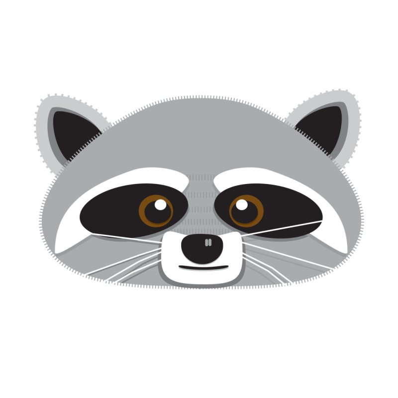 Racoon Face Accessories Beach Towel by Cowboy Goods Artist Shop