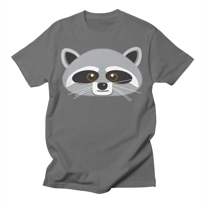 Racoon Face Men's T-Shirt by Cowboy Goods Artist Shop