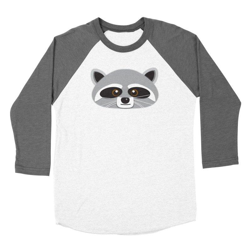 Racoon Face Women's Longsleeve T-Shirt by Cowboy Goods Artist Shop