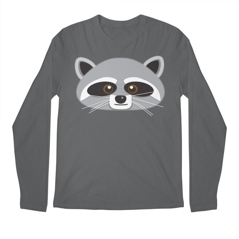 Racoon Face Men's Longsleeve T-Shirt by Cowboy Goods Artist Shop