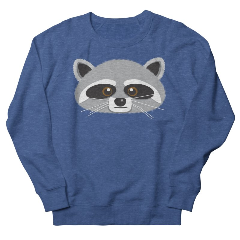 Racoon Face Men's Sweatshirt by Cowboy Goods Artist Shop