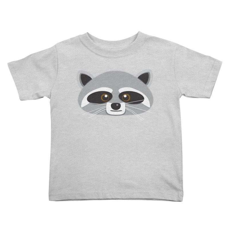 Racoon Face Kids Toddler T-Shirt by Cowboy Goods Artist Shop