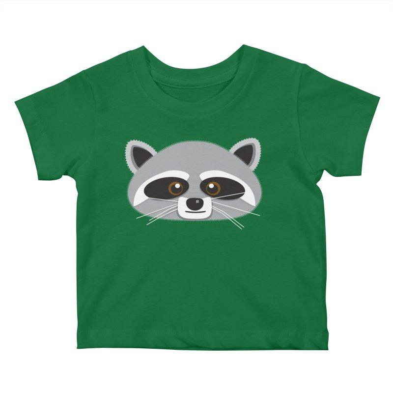 Racoon Face Kids Baby T-Shirt by Cowboy Goods Artist Shop