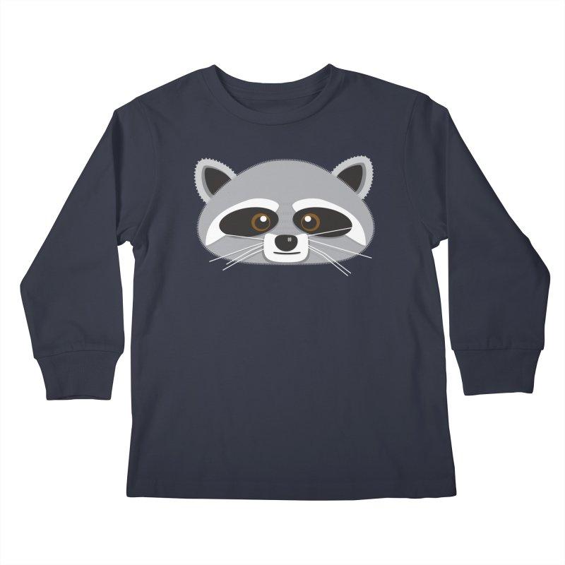 Racoon Face Kids Longsleeve T-Shirt by Cowboy Goods Artist Shop