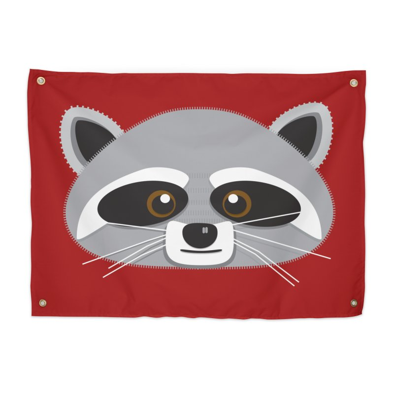 Racoon Face Home Tapestry by Cowboy Goods Artist Shop