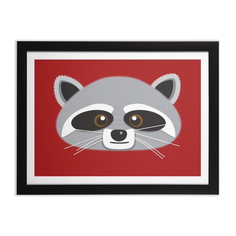 Racoon Face Home Framed Fine Art Print by Cowboy Goods Artist Shop
