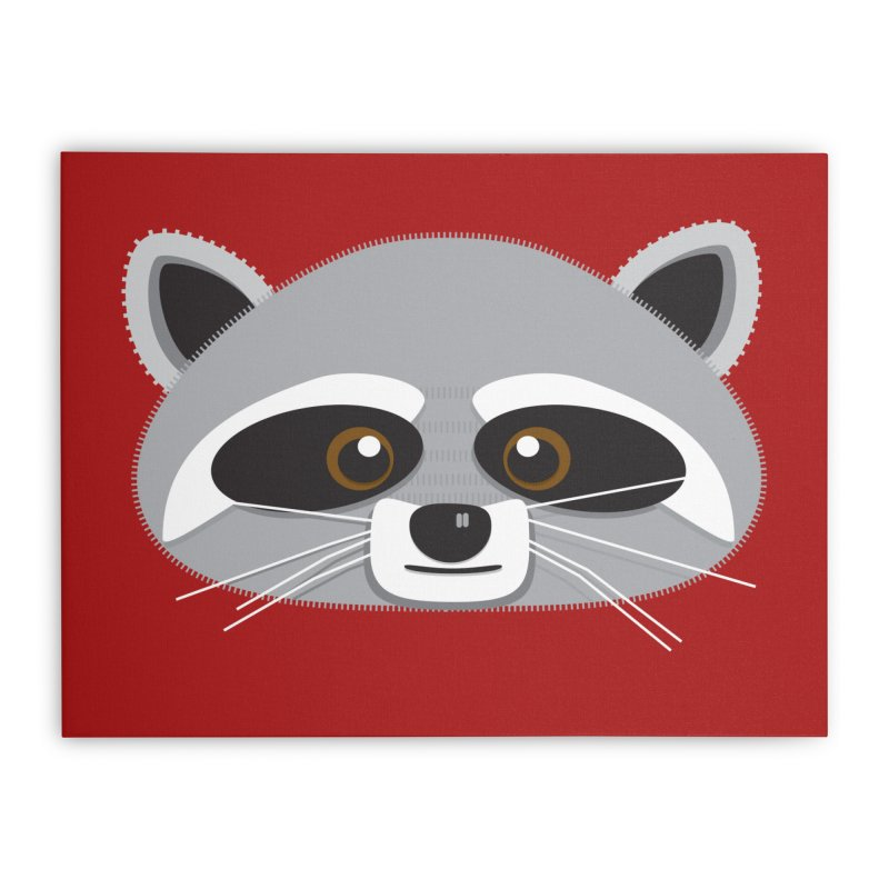 Racoon Face Home Stretched Canvas by Cowboy Goods Artist Shop