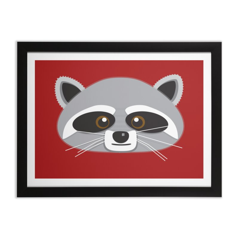 Racoon Face Home Framed Fine Art Print by Cowboy Goods Artist Shop