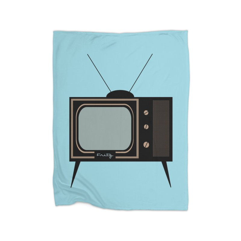 Vintage TV set Home Blanket by Cowboy Goods Artist Shop