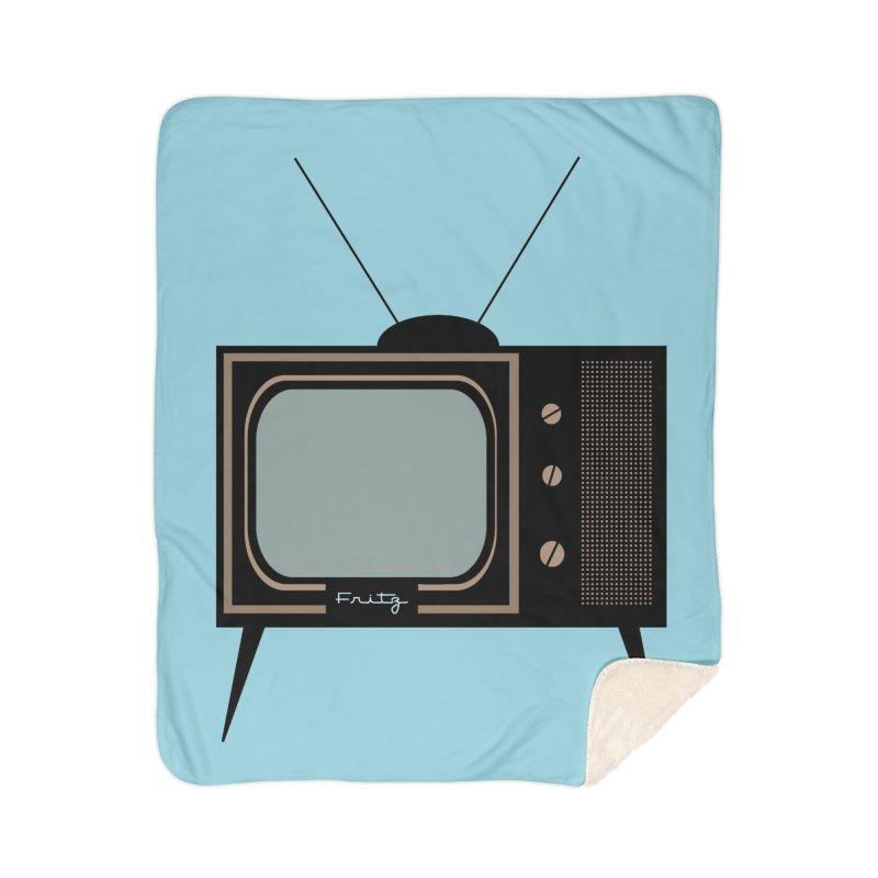 Vintage TV set Home Blanket by Cowboy Goods Artist Shop