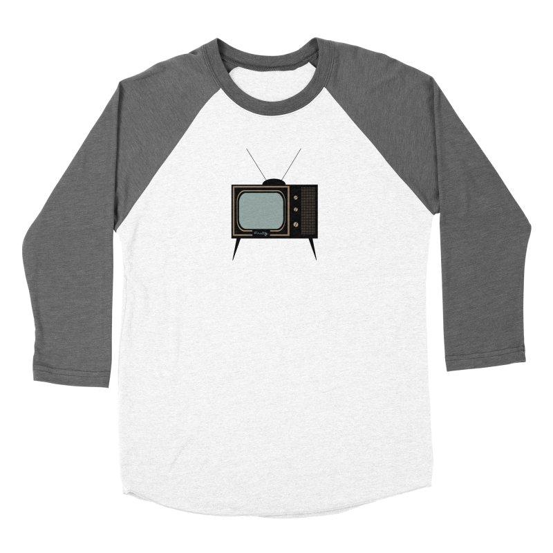 Vintage TV set Women's Longsleeve T-Shirt by Cowboy Goods Artist Shop