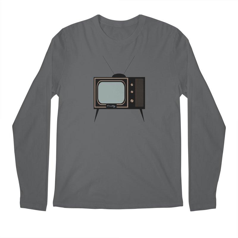 Vintage TV set Men's Longsleeve T-Shirt by Cowboy Goods Artist Shop