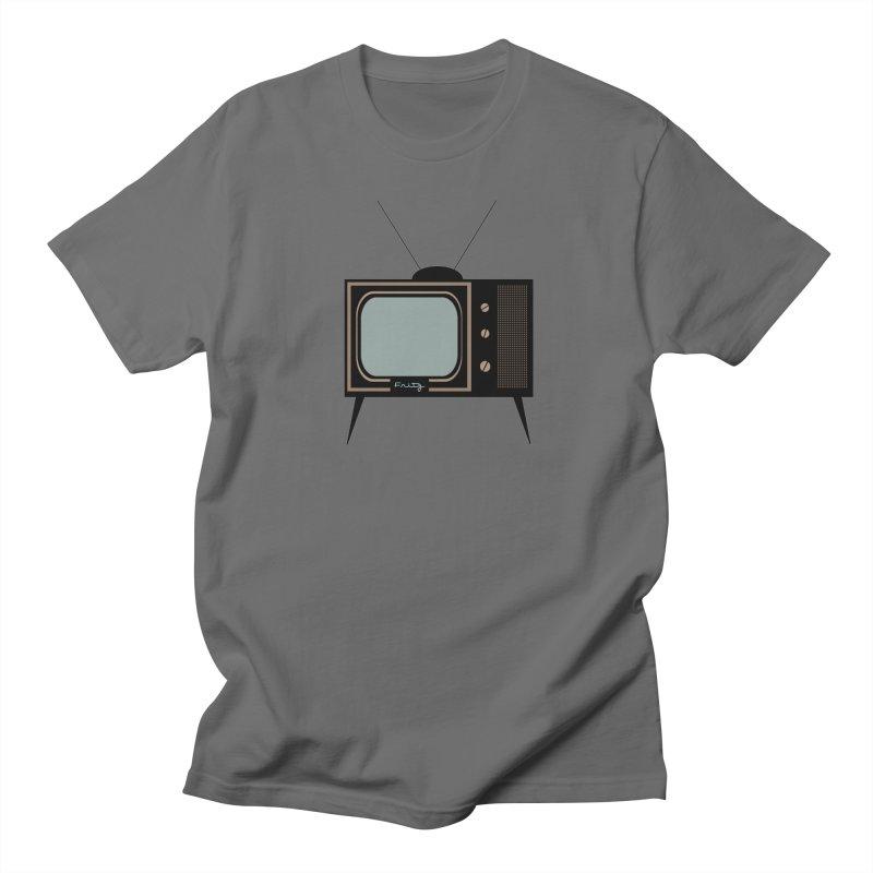 Vintage TV set Men's T-Shirt by Cowboy Goods Artist Shop