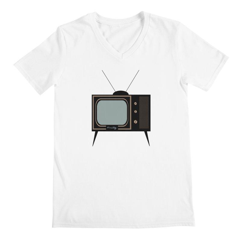 Vintage TV set Men's V-Neck by Cowboy Goods Artist Shop
