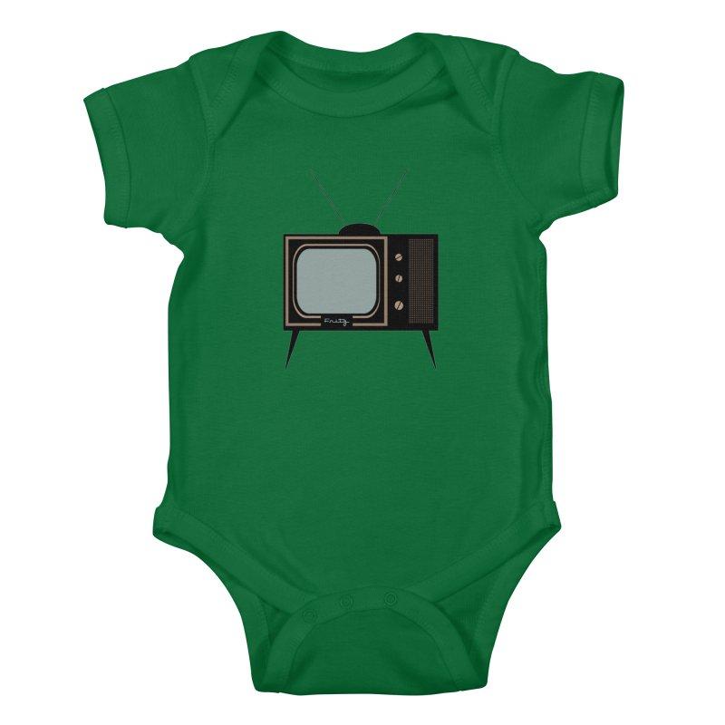 Vintage TV set Kids Baby Bodysuit by Cowboy Goods Artist Shop