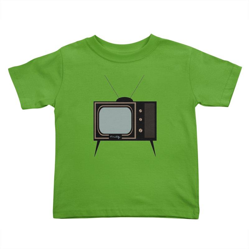 Vintage TV set Kids Toddler T-Shirt by Cowboy Goods Artist Shop