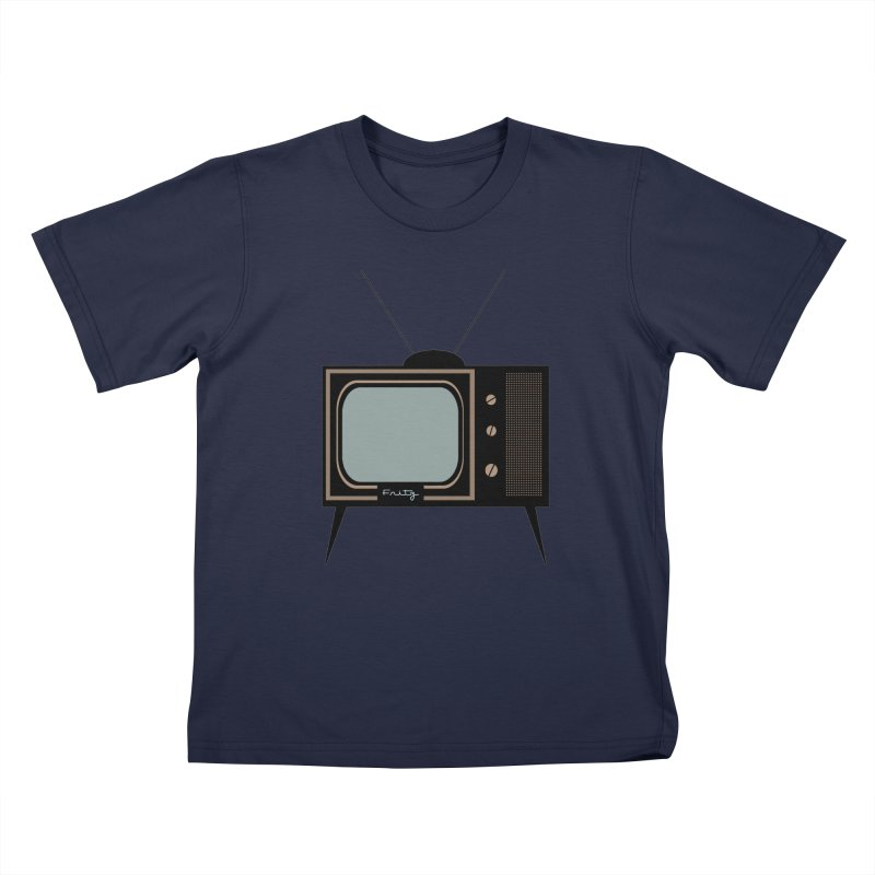 Vintage TV set Kids T-Shirt by Cowboy Goods Artist Shop